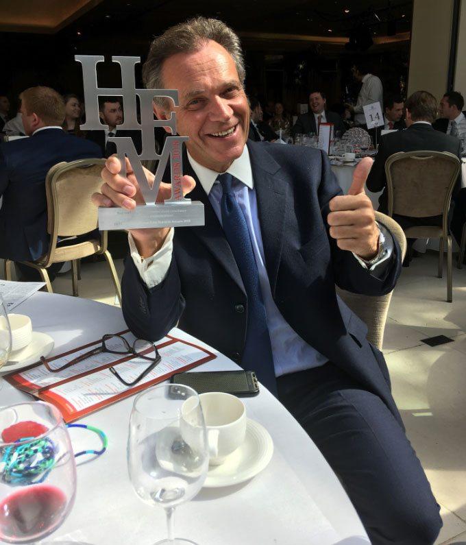 Anthony Payne receives HFM award 2018
