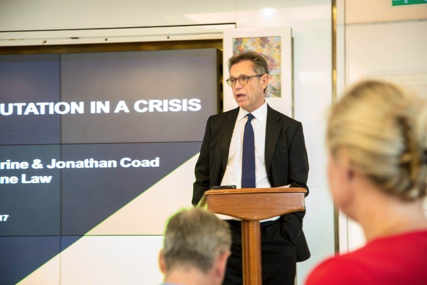 Anthony Payne speaking at Protecting Your Reputation in a Crisis Event