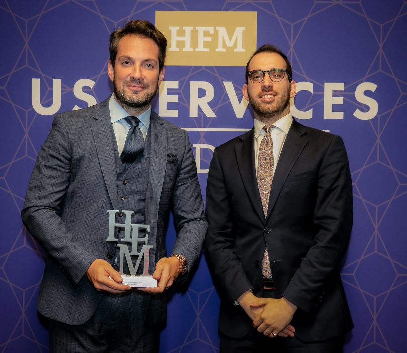 Max Hilton Darius Athill at the HFM Services awards 2019