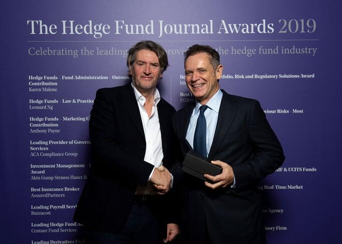 Anthony Payne at Hedge Fund journal Awards 2019