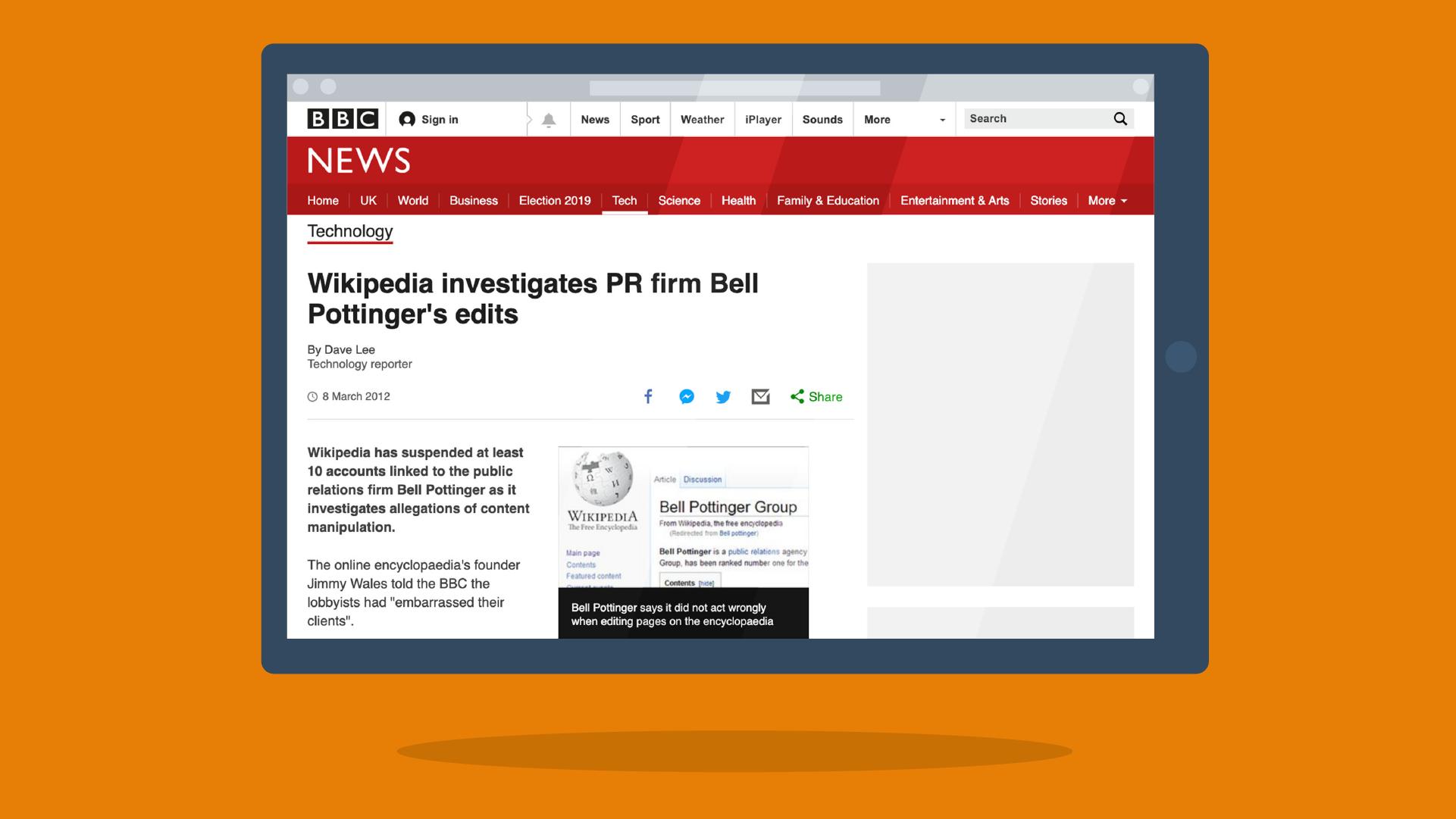 wikipedia investigation bell pottinger bbc article