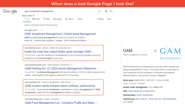 Bad Google Page 1
