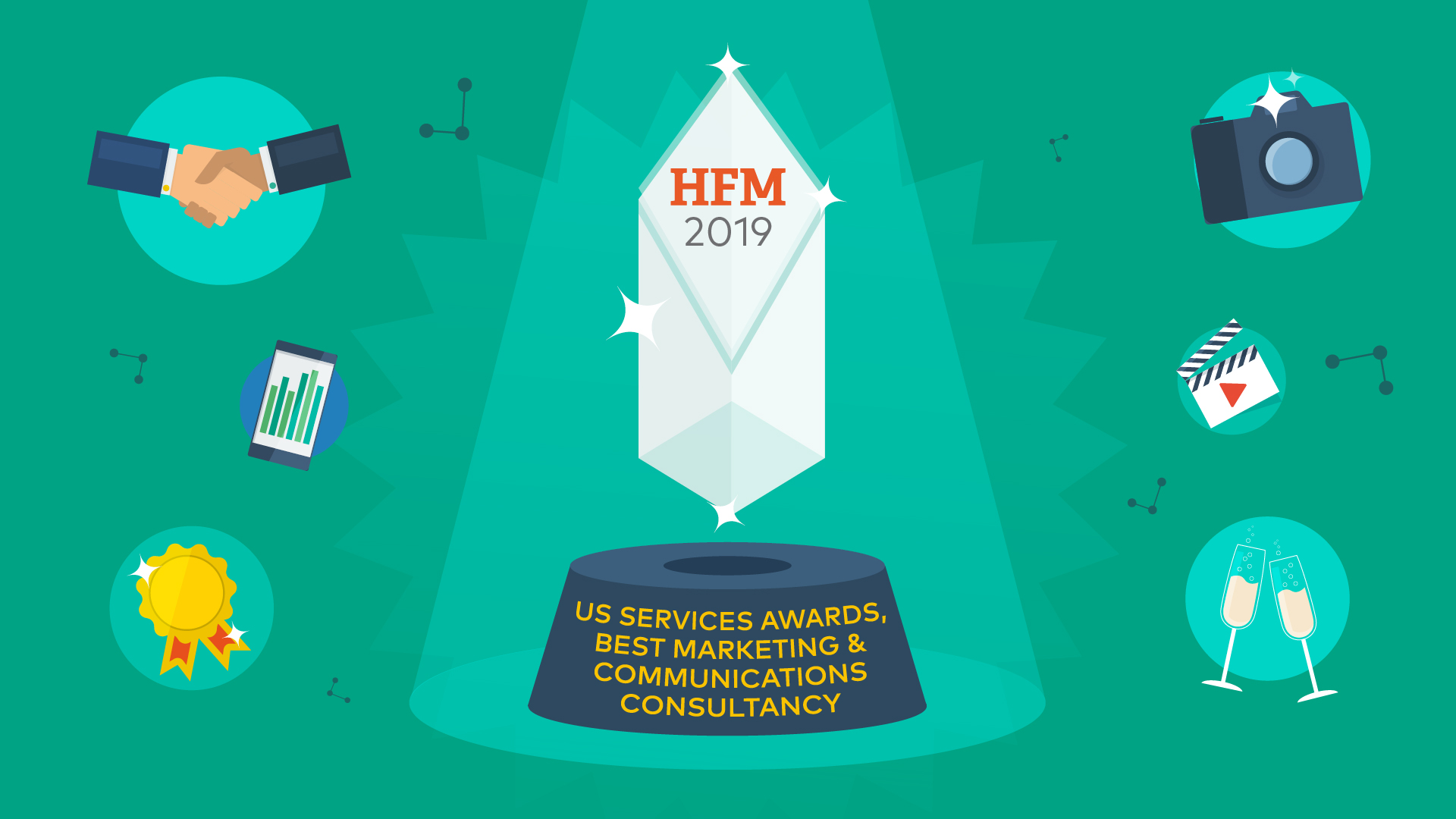 Best Marketing and Communications Consultancy at the HFM US Hedge Fund Services Awards 2019