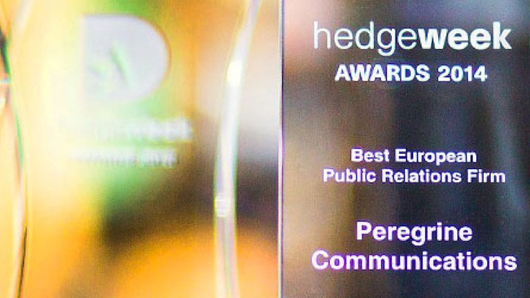 Cover image for post: Peregrine Four Times Winner at the 2014 Hedgeweek Awards