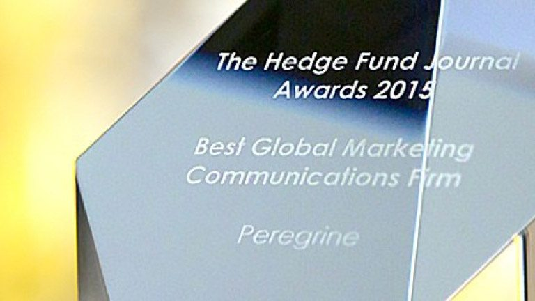Best Global Marketing Communications Firm at the Hedge Fund Journal Awards 2015.