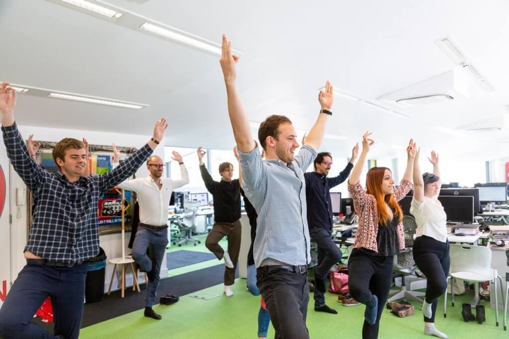 Yoga at Peregrine London office