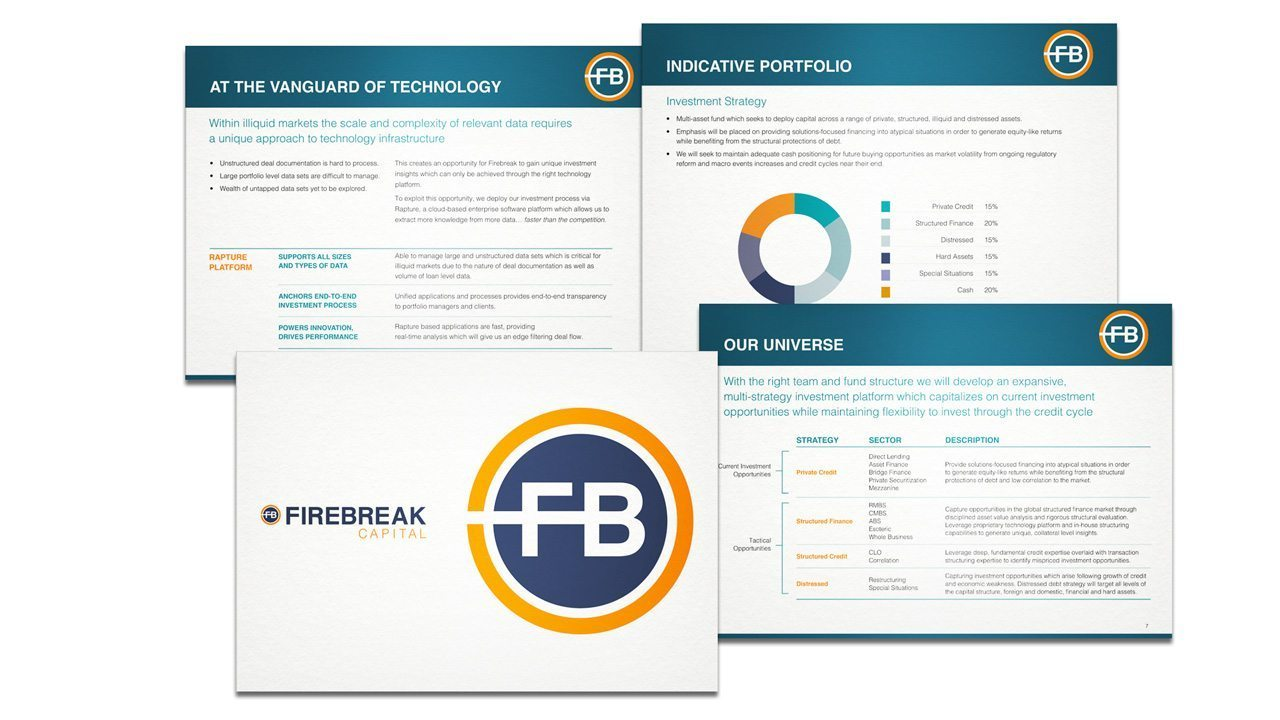 Firebreak Capital marketing collateral presentations