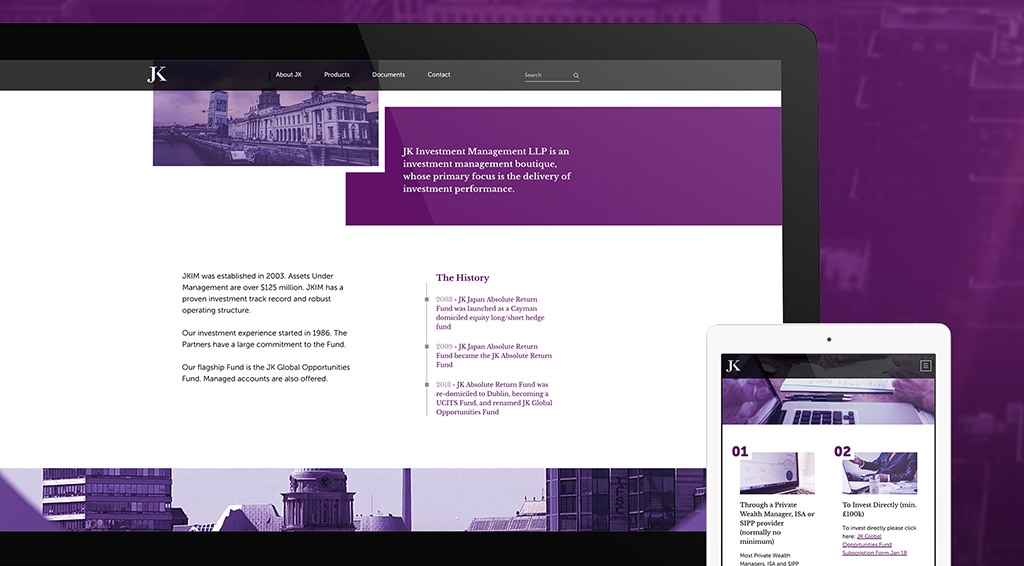 JK Investment Management Website