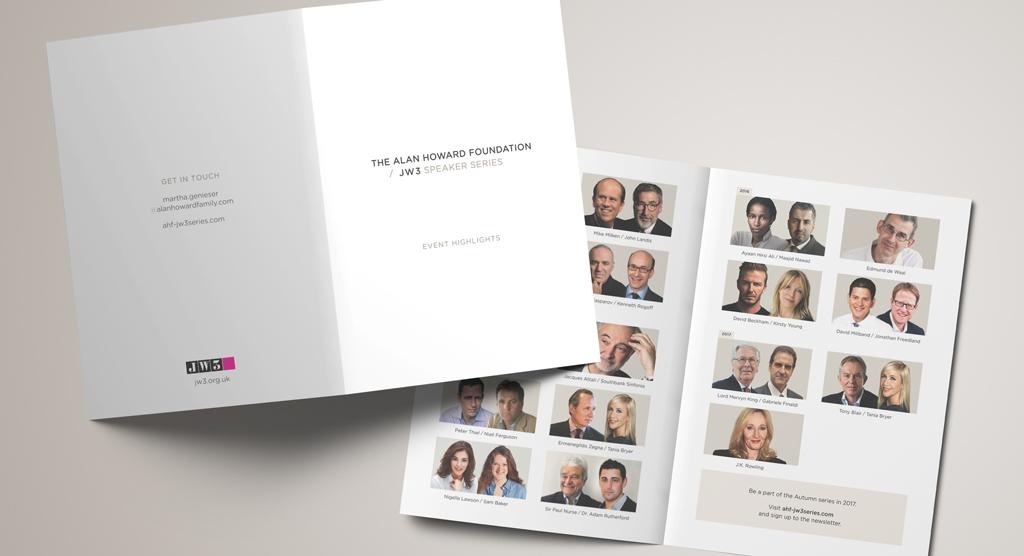Alan Howard / JW3 Speaker Series - IMC Case Study Brochure example