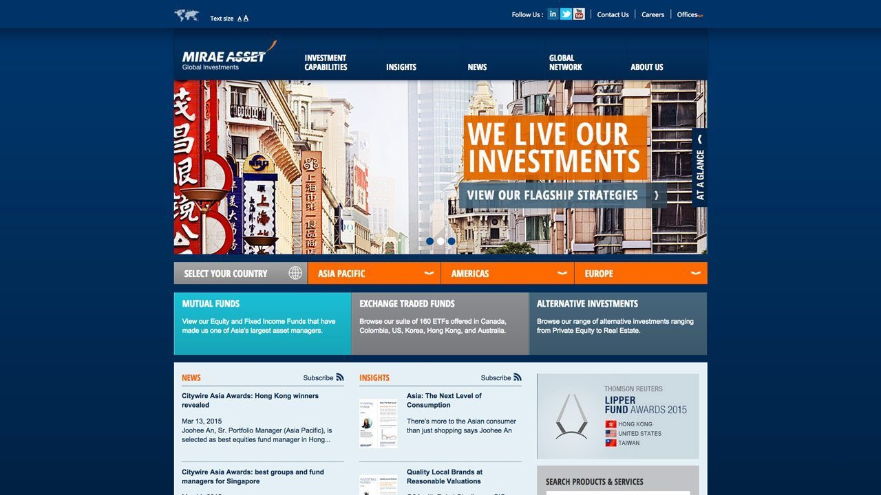 Mirae Asset Global Investments Homepage