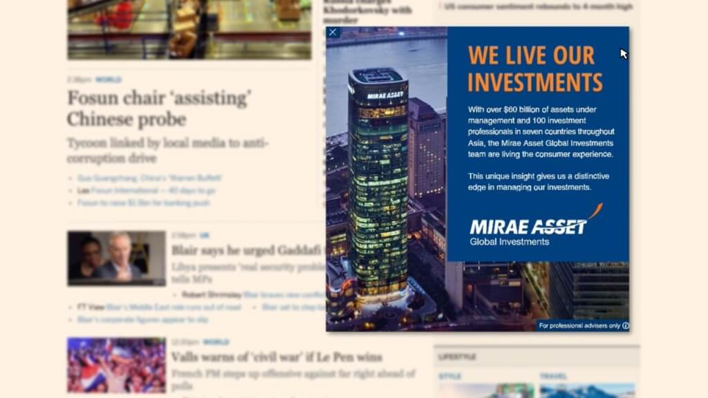Mirae Asset Global Investments digital ad