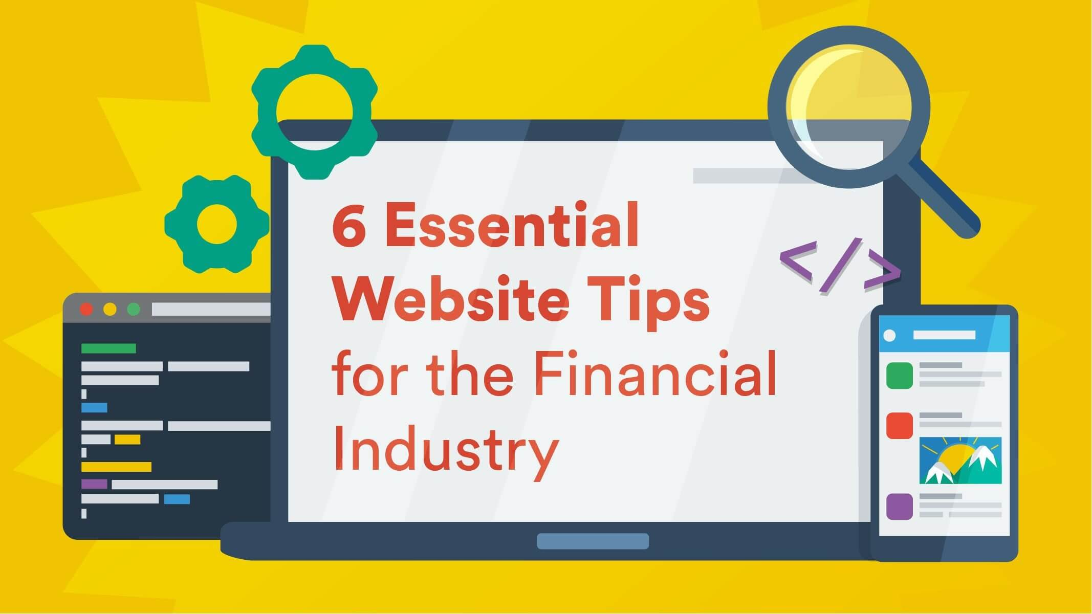 website tips financial industry peregrine communications
