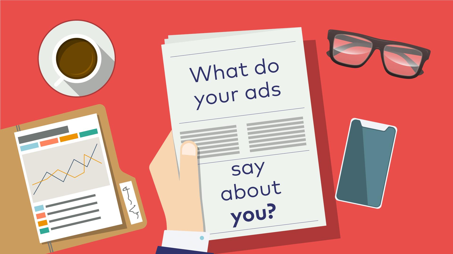 best financial print ads banner