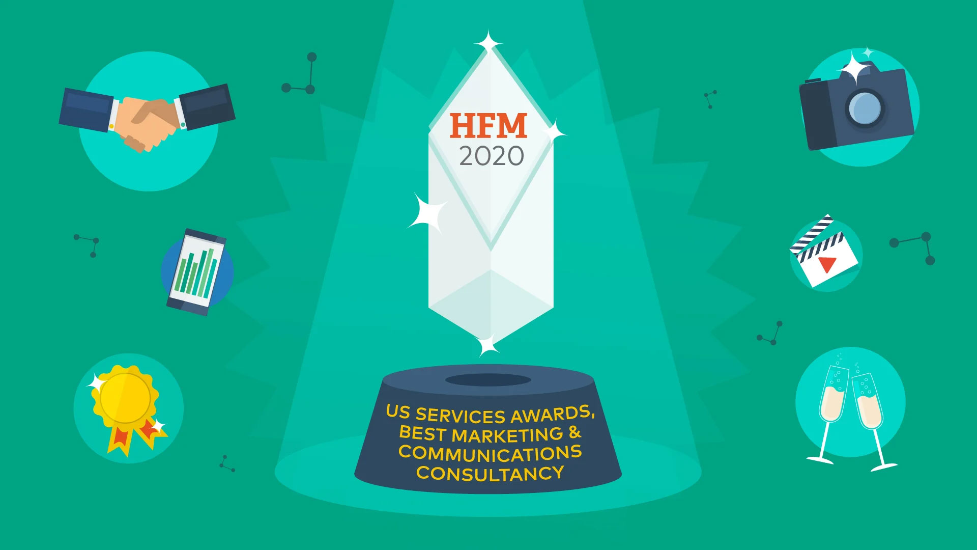 Cover image for post: Best Marketing and Communications Consultancy, HFM US Hedge Fund Services Awards 2020