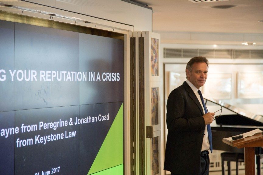 Peregrine Communications host event on Protecting Your Reputation in a Crisis
